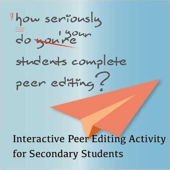 NarrativeDescriptive Essay Peer Editing Checklist